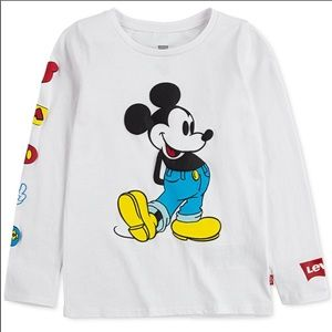Girls Levis and x Disney Mickey Mouse Tee